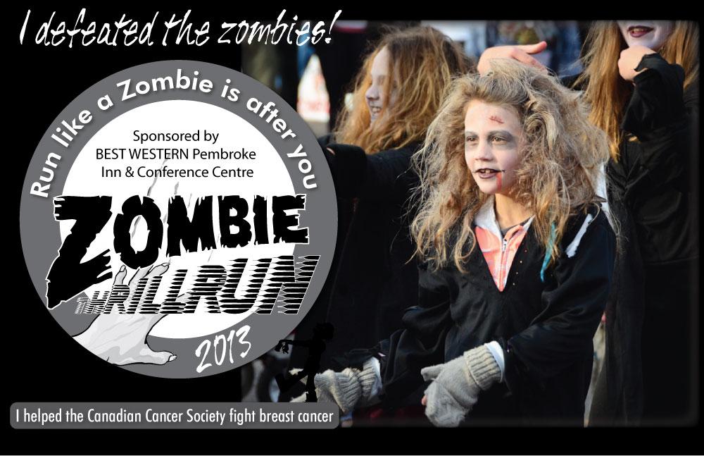 Zombie Thrill Run Sunday October 27th, 2013