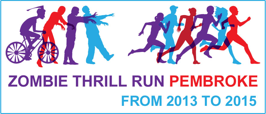 Pembroke's Zombie Thrill Run from 2013 to 2015