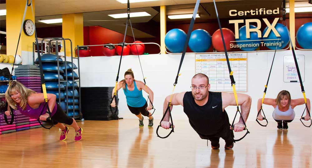TRX training at the Pembroke Fitness Centre