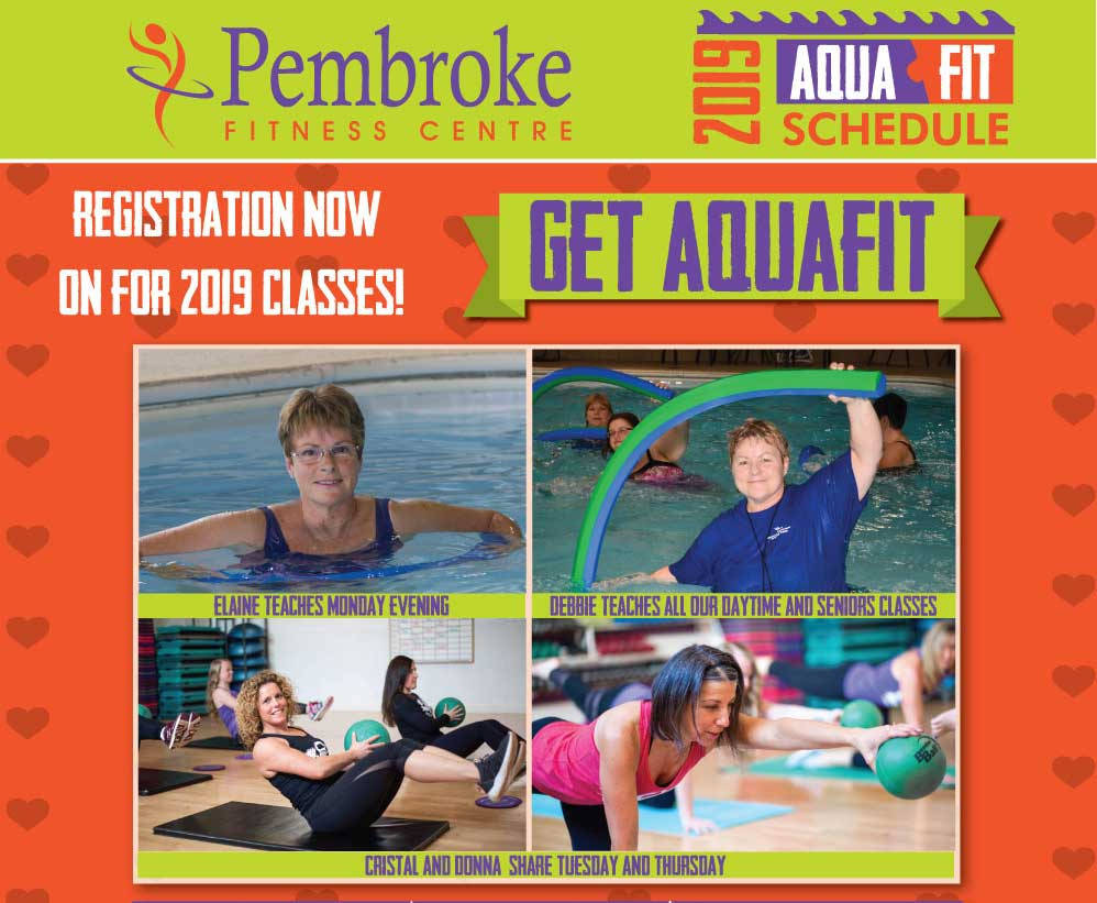 Registration now on for 2019 Fall AquaFit Classes