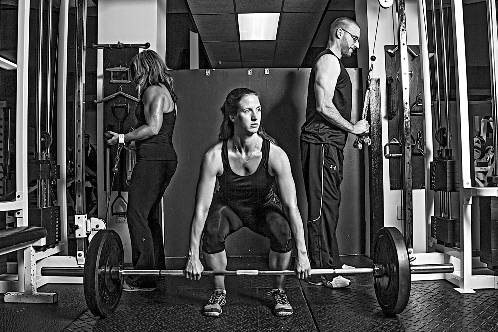 Alyson, Tammy & Darren Weight Lifting