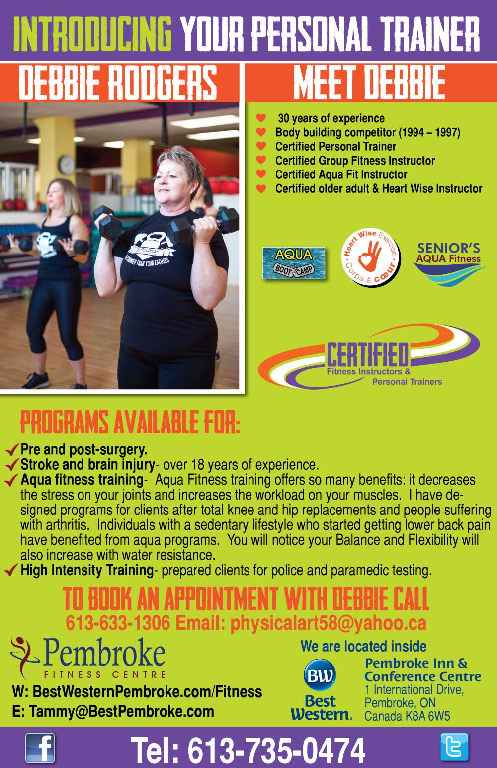 Personal Trainer: Debbie Rodgers