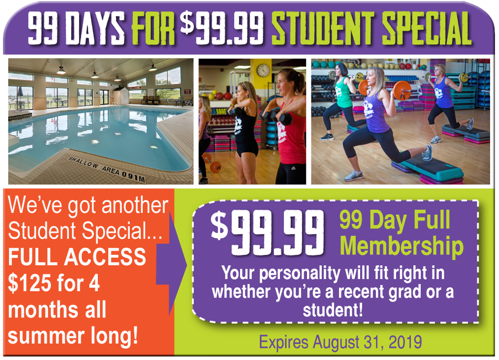 99 Days for 99.99 Student Summer Special