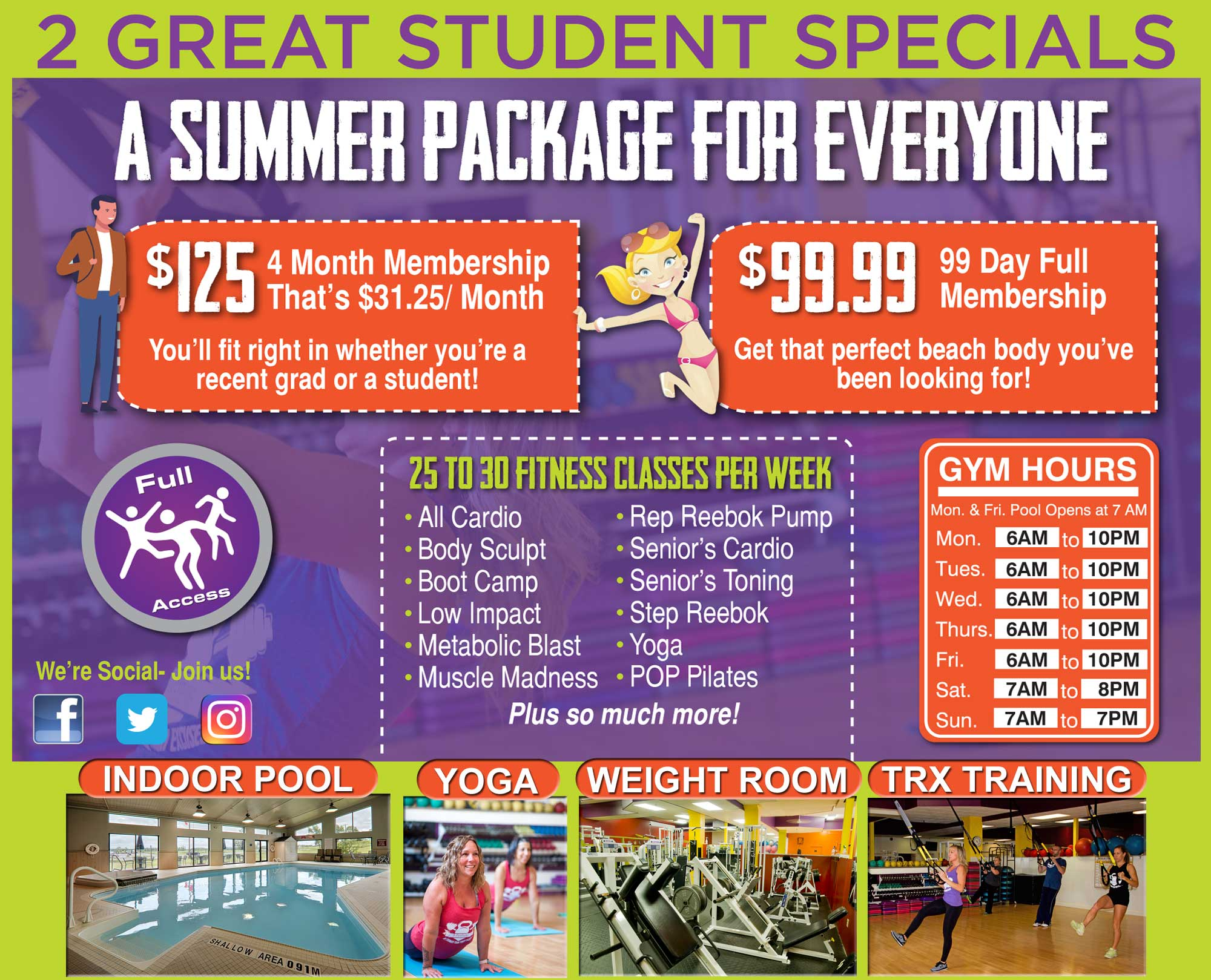 School's Out-Fitness Specials
