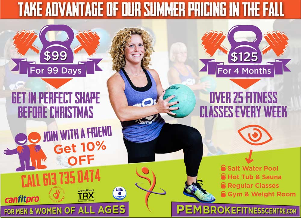 Discounted Summer Fitness Rates Available this Fall