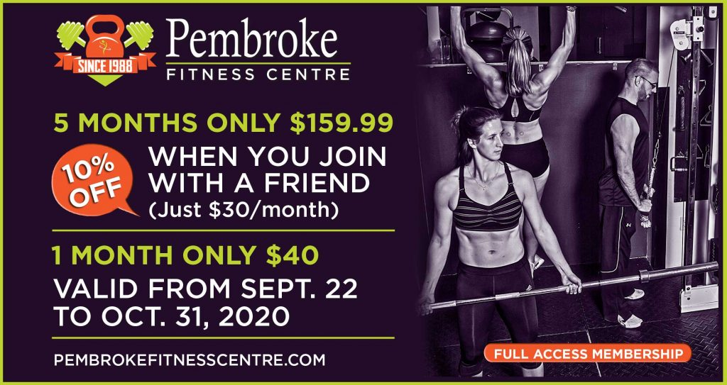 Pembroke Fitness Special Offers for Sept 2020